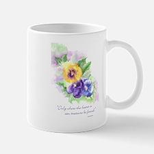 Pansies and Your Heart Mug