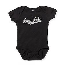 Long Lake, Retro, Baby Bodysuit
