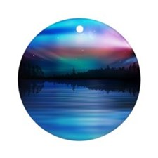 Northern Lights Ornament (Round)