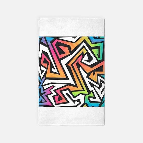 Graffiti 3'x5' Area Rug