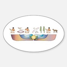 Saluki Hieroglyphs Oval Decal