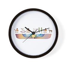 Saluki Hieroglyphs Wall Clock