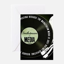Truthstream Record Logo Greeting Cards
