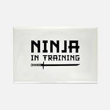 Ninja In Training Rectangle Magnet