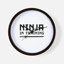 Ninja In Training Wall Clock