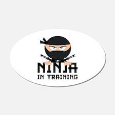 Ninja In Training 22x14 Oval Wall Peel