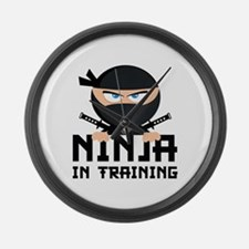 Ninja In Training Large Wall Clock