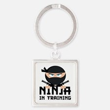 Ninja In Training Square Keychain