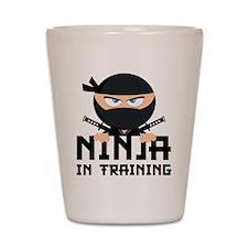Ninja In Training Shot Glass