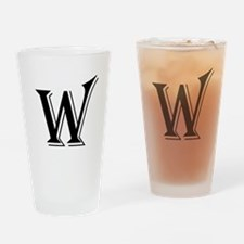 Fancy Letter W Drinking Glass