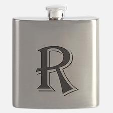Fancy Letter R Flask