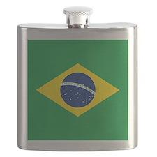 Brazil Flag Flask