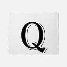 Fancy Letter Q Throw Blanket