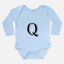 Fancy Letter Q Body Suit