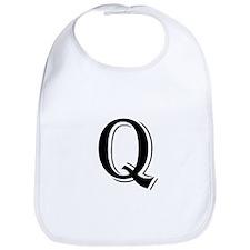 Fancy Letter Q Bib