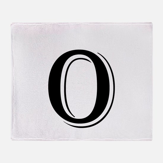 Fancy Letter O Throw Blanket