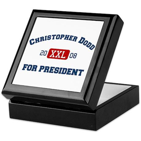 Christopher Dodd for president Keepsake Box