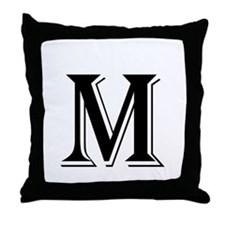 Fancy Letter M Throw Pillow