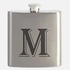 Fancy Letter M Flask