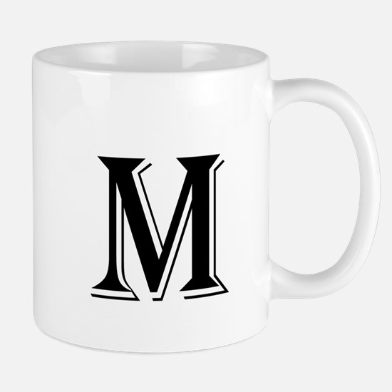 Fancy Letter M Mugs