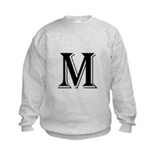 Fancy Letter M Sweatshirt