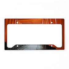 red torii gates kyoto License Plate Holder