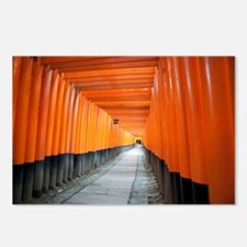 red torii gates kyoto Postcards (Package of 8)