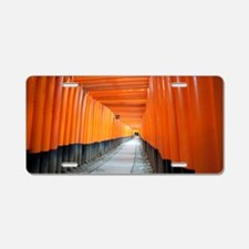red torii gates kyoto Aluminum License Plate