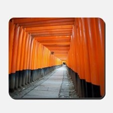 red torii gates kyoto Mousepad