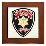 SF City College Police Framed Tile