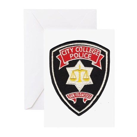 SF City College Police Greeting Cards (Package of