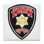 SF City College Police Tile Coaster