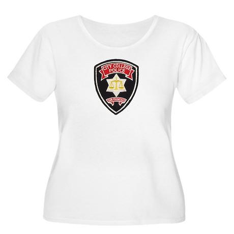 SF City College Police Women's Plus Size Scoop Nec