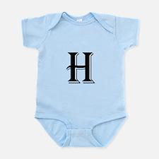 Fancy Letter H Body Suit