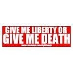 Liberty or Death Bumper Sticker