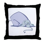 Droopy Pastel Elephant Throw Pillow