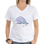 Droopy Pastel Elephant Women's V-Neck T-Shirt