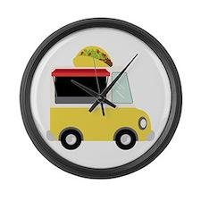 Taco Truck Large Wall Clock