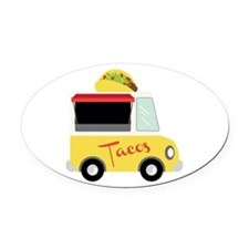 Tacos Oval Car Magnet