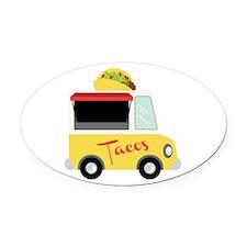 Tacos Oval Car Magnet