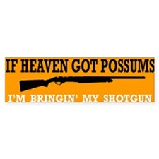 Possum Heaven Bumper Bumper Sticker