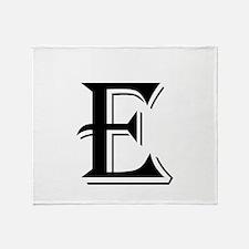 Fancy Letter E Throw Blanket
