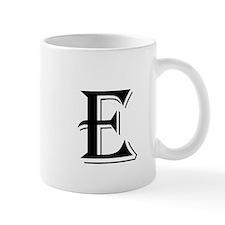 Fancy Letter E Mugs