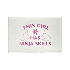 This Girl Has Ninja Skills Rectangle Magnet