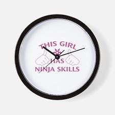 This Girl Has Ninja Skills Wall Clock