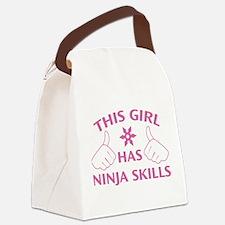 This Girl Has Ninja Skills Canvas Lunch Bag