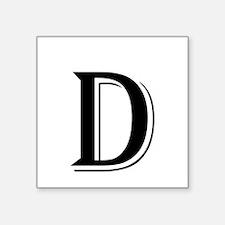Fancy Letter D Sticker