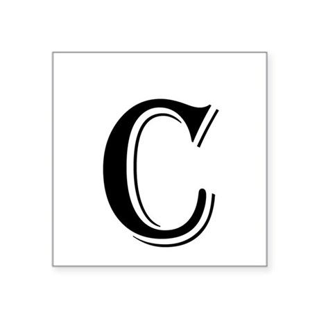 Fancy letter c sticker by decorativeletters for Letter c stickers