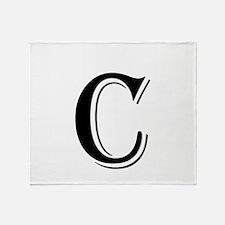 Fancy Letter C Throw Blanket