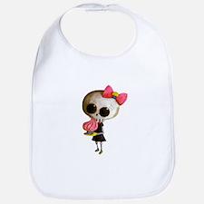 Skeleton Girl with Cupcake Bib